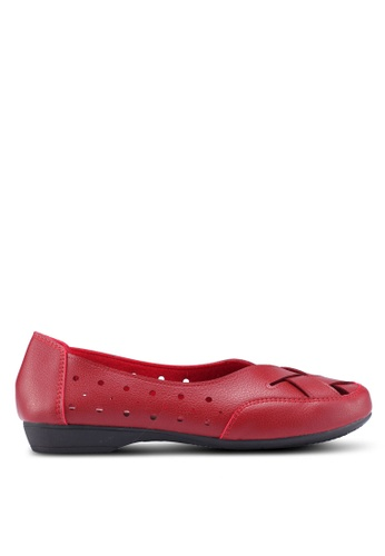 Louis Cuppers red Ballet Flats 5FC18SHF3C7AB7GS_1