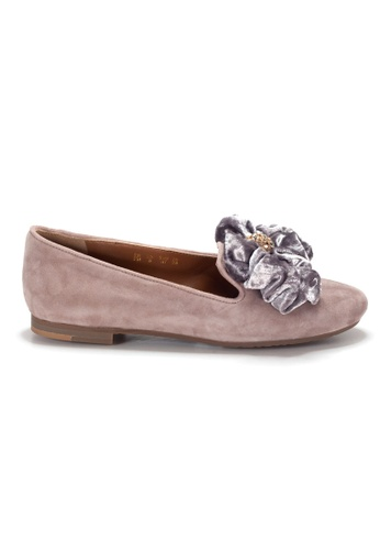 Shu Talk pink LeccaLecca Suede Leather BOW BOW Flats A3E31SH357CA24GS_1