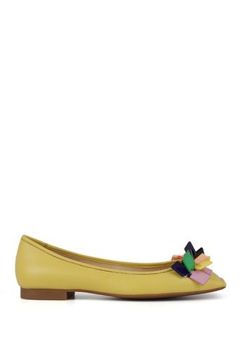 Miomia 黃色 膠片方頭平底鞋 0A059SH4AE8A61GS_1