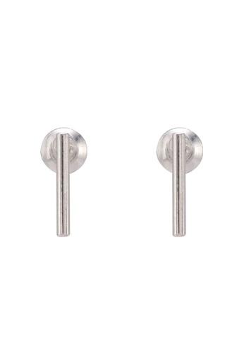 Orelia London silver SS Fine Bar Stud Earrings OR747AC0SC5QMY_1