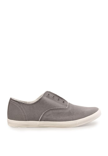 Minarno grey Grey Laceless Slip-On Sneakers MI641SH39RYYID_1