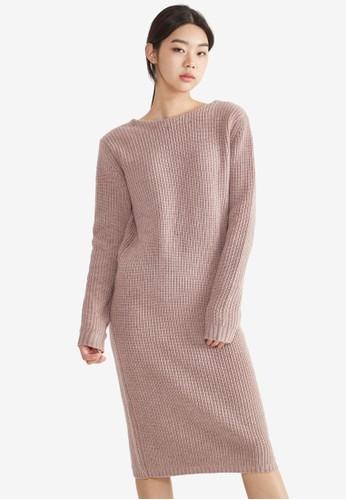 簡約長esprit台灣outlet袖及膝連身裙, 服飾, 洋裝