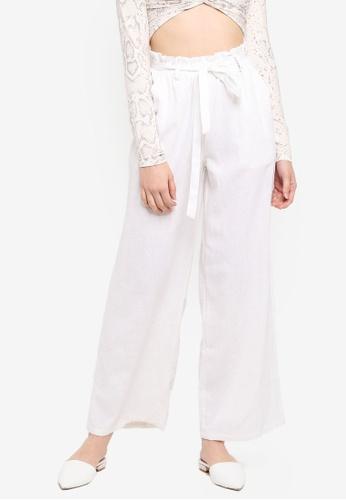 Supre white Luna Paperbag Waist Pants 059B7AAAFC69B6GS_1