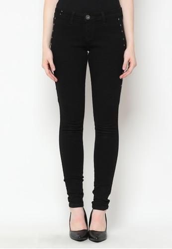 Mobile Power black Slim Fit Long Pants Stud Jeans Denim Black Mobile Power Ladies - Y2330L 962A2AA324A8C2GS_1