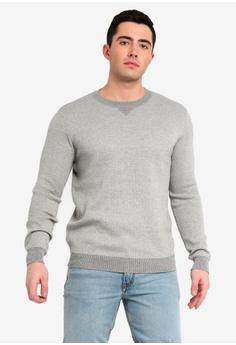 376ffa9385c MANGO Man grey Knit Cotton Sweater 63375AADC770D1GS 1