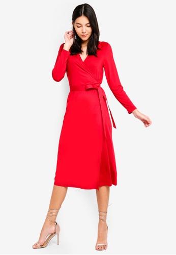ZALORA orange Jersey Wrap Dress DE79BAAA8FB9A0GS_1