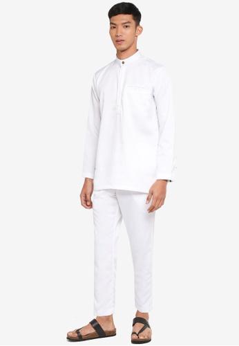 Klozet Kuala Lumpur white Baju Melayu Regular Ghazal 6DB21AAF8170C7GS_1