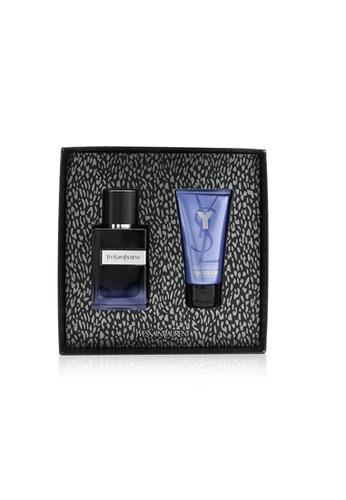 YVES SAINT LAURENT YVES SAINT LAURENT - Y Coffret: Eau De Parfum Spray 60ml/2oz + Shower Gel 50ml/1.6oz 2pcs 2AC53BE1A4DBB6GS_1