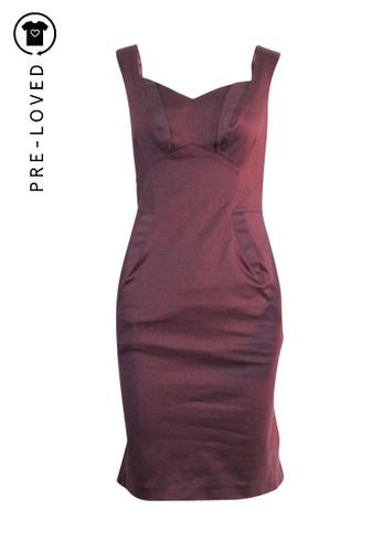 Zac Posen purple Pre-Loved zac posen Deep Purple Knee Length Tailored Dress F8F7BAA1C71D65GS_1