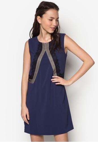 蕾絲點點邊飾連zalora 心得身裙, 服飾, 洋裝