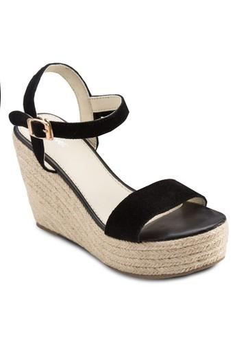 Covet 麻編楔型跟涼鞋尖沙咀 esprit, 女鞋, 楔形涼鞋
