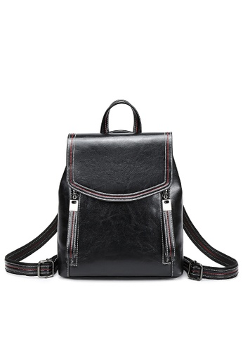 Twenty Eight Shoes black Vintage Cow Leather Backpack 363-1 7C564ACACB5040GS_1