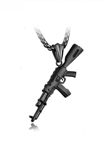 HAPPY FRIDAYS black Stylish Pistol Pendant Necklace JW OK-1221 4BC0AACE96E66CGS_1