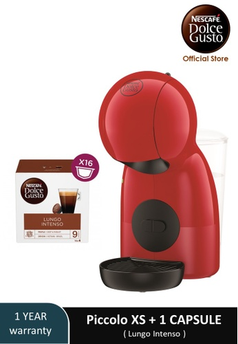 NESCAFE Dolce Gusto red PICCOLO XS Coffee Machine with 1 box of NESCAFE Dolce Gusto Lungo Intenso capsules AFC4AES708815CGS_1