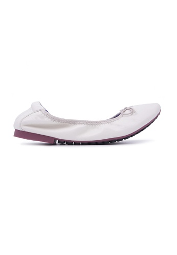 Flatss & Heelss by Rad Russel white Soft Ribbon Flats - White 075E3SHCE81D06GS_1