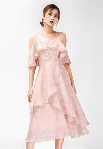 Urban Outlier Off Shoulder Floral Ruffle Evening Dress EDB7DAA696581FGS_1