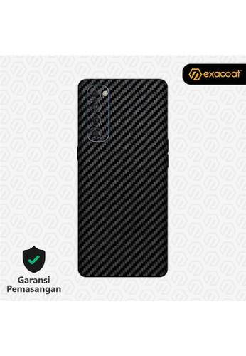 Exacoat Oppo Reno4 Pro 3M Skins Carbon Fiber Black - Cut Only 523FEES954949FGS_1