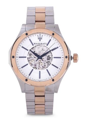 Maserati silver Circuito 44mm Automatic Bracelet Watch MA410AC99HGQMY_1