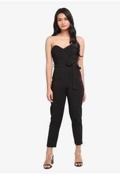8cf0b0ca03b Miss Selfridge. Petite Sweetheart Tie Jumpsuit