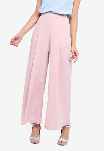 ZALORA pink Wide Leg Pants 05991AA9475666GS_1
