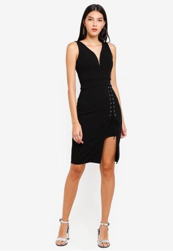 803c36317b Buy WALG Plunge Neckline With Front Eyelet Split Dress Online on ZALORA  Singapore