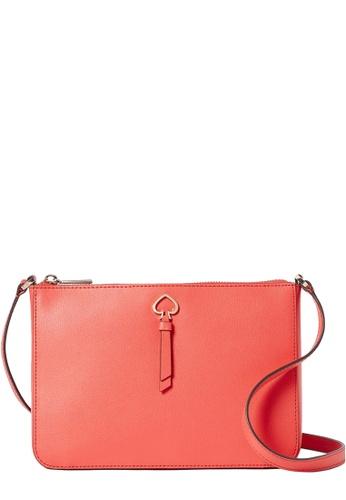 Kate Spade orange Kate Spade Adel Medium Top Zip Crossbody Bag in Stop Light 1AE25ACAEDFDC8GS_1
