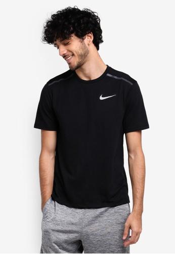 Nike black Breathe Tailwind Running Top NI126AA0STV0MY_1