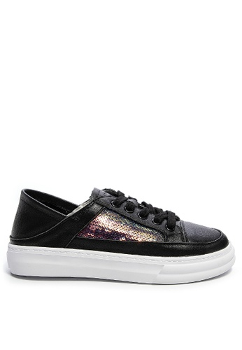 Twenty Eight Shoes Sequined Leather Lace Up Sneakers RX6013 9B108SHDF606DAGS_1