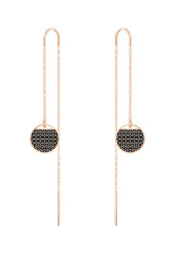 Swarovski black and gold Ginger Pierced Chain Earrings B70F5ACC851E09GS_1