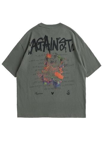 Twenty Eight Shoes Graffited Printed Short T-shirt 5157S21 25158AAD0D4817GS_1