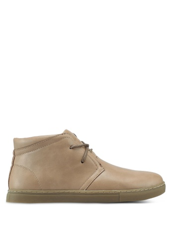 Bata beige Faux Leather Chukka Boots 52231SHEE68A42GS_1