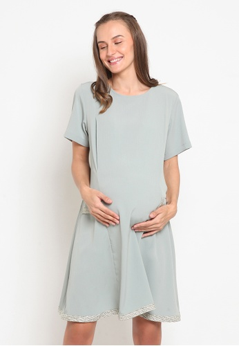 Chantilly green Dress 2in1 Pregnant / Breastfeeding with Slimming Effect 4A0EDAA863C445GS_1