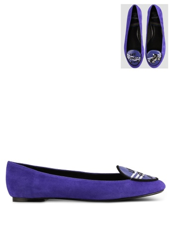 "House of Avenues blue Loafers with ""Roller"" Graphic HO685SH96CBFMY_1"