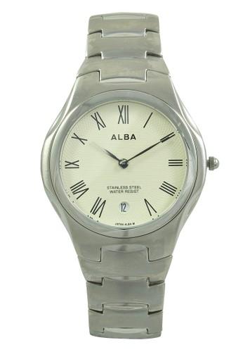 Alba silver ALBA Jam Tangan Pria - Silver Ivory - Stainless Steel - AVKB73 AA215ACFE76057GS_1
