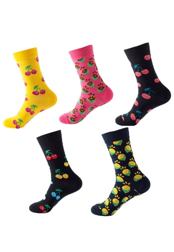 Kings Collection black Set of 5 Pairs Cozy Socks (HS202248-252) 7D044AAC01A6FCGS_1