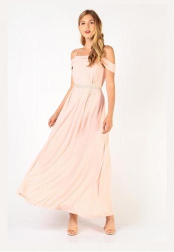f4f84452bf5 Buy Dressabelle Embellished Cold Shoulder Maxi Dress Online on ZALORA  Singapore