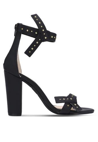 Something Borrowed black Bow Studded Heels 38F54ZZE8E5664GS_1