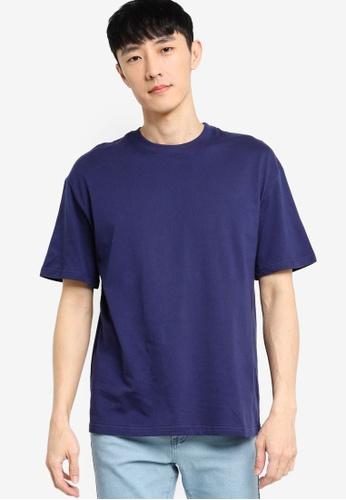 ZALORA BASICS navy Oversized T-Shirt 0A7F8AA019AFF2GS_1
