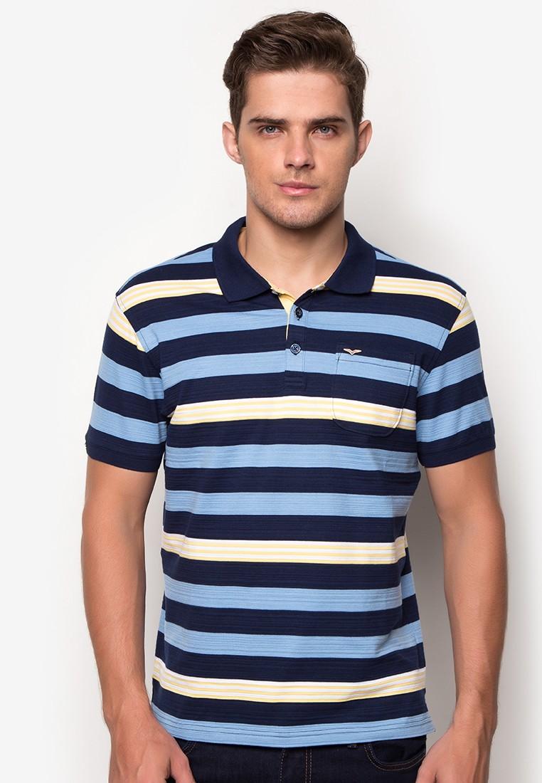 Mens Stripes Polo Tee