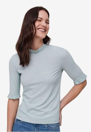 OVS blue Fine-Rib Lurex Knit Top 4AB2FAA20CEFE0GS_1