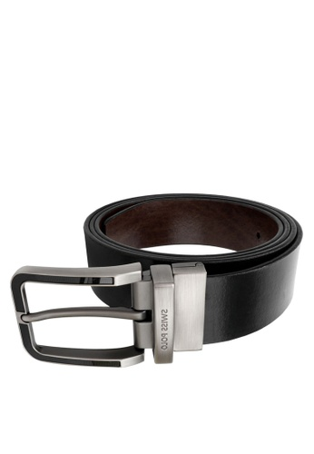 Swiss Polo black and brown 35mm Reversible Belt 3CB1EAC0839209GS_1