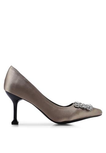 942d3c164d Buy Nose Diamond Buckle Unique Heel Pumps Online | ZALORA Malaysia