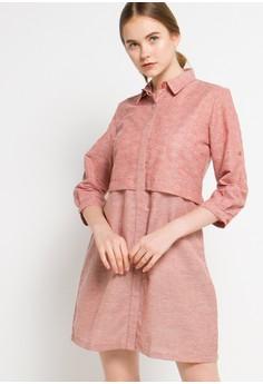 Image of 7/8 Sleeve Dress 083