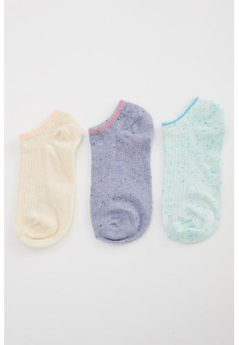 DeFacto multi Woman 3-pieces Low Cut Socks 9B8E4AA3C3F95DGS_1