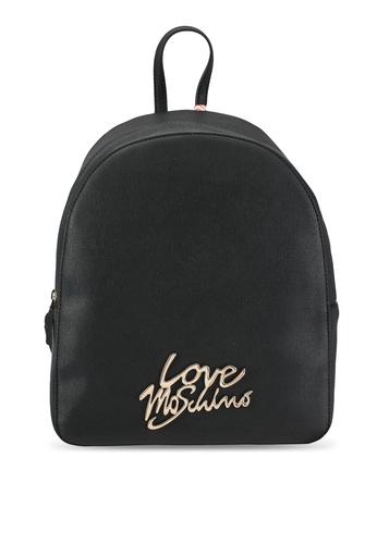 Love Moschino black Borsa Saffiano Backpack LO478AC0SEIOMY_1