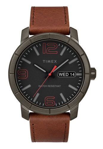 TIMEX black and brown Timex Men's Watch TW2R64000 1E7D9AC2286948GS_1