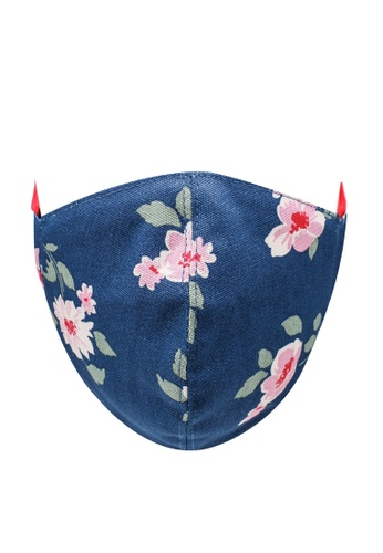 Cath Kidston navy Dusk Floral Space Printed Face Mask 9CE4EES2965B37GS_1