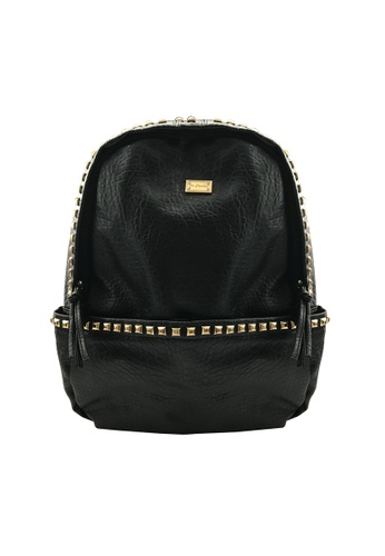 Her Jewellery black and gold Studdy Backpacks HE581AC0RAEZMY_1
