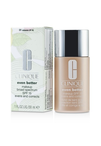 Clinique CLINIQUE - Even Better Makeup SPF15 (Dry Combination to Combination Oily) - No. 01/ CN10 Alabaster 30ml/1oz 8D556BE7EFA3AEGS_1