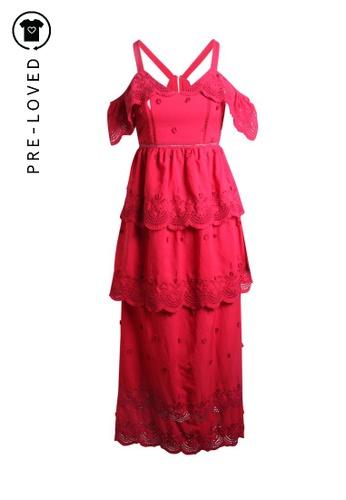 Self-portrait red Pre-Loved self-portrait 3D Lace Dress 53B71AA8607B0EGS_1